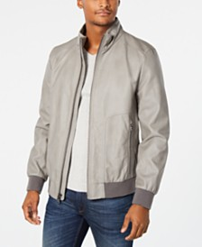 Calvin Klein Men's Faux-Leather Jacket