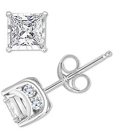 Diamond Princess Stud Earrings (3/4 ct. t.w.) in 14k White Gold