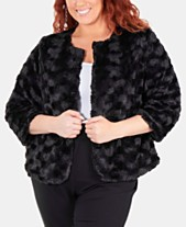 53e0054a1af55 NY Collection Plus Size Patterned Faux Fur Jacket