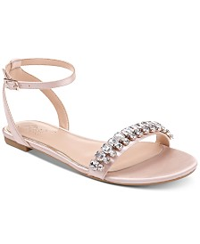 Jewel Badgley Mischka Dalinda Flat Evening Sandals