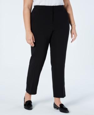 Vince Camuto Plus Size Straight-leg Pants In Rich Black