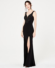 bb0cd9b46cc0 Say Yes to the Prom Gown with Embroidery and Rhinestone Detail, Created for  Macy's