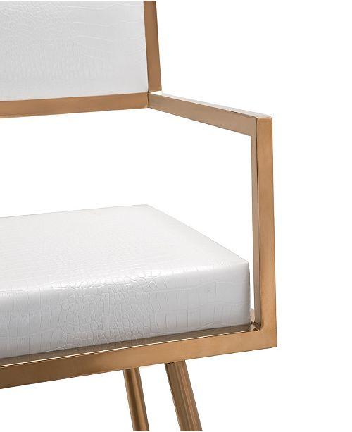 Tov Furniture Marquee White Croc Arm Chair Amp Reviews