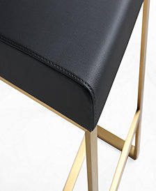 Denmark Black Gold Steel Counter Stool