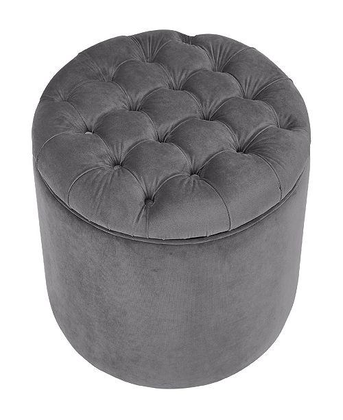 TOV Furniture Queen Blush Velvet Storage Ottoman