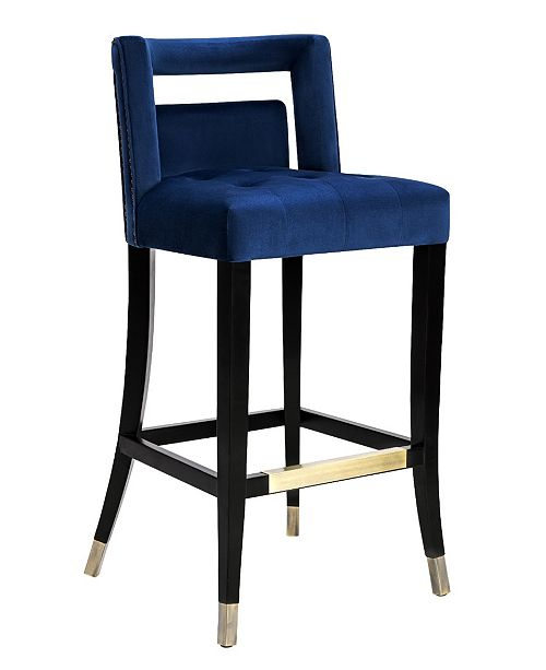 Tov Furniture Tiffany Navy Velvet Counter Stool Amp Reviews