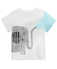 First Impressions Baby Boys Elephant Graphic T-Shirt, Created for Macy's