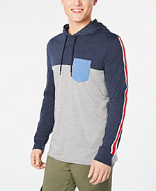 American Rag Men's Lightweight Colorblocked Hoodie, Created for Macy's