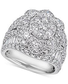 Diamond Flower Cluster Ring (4 ct. t.w.) in 14k White Gold