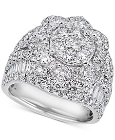 Diamond Flower Cluster Ring (4 ct. t.w.) in 14k White Gold