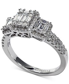 EFFY® Bridal Diamond Baguette Cluster Engagement Ring (3/4 ct. t.w.) in 14k White Gold