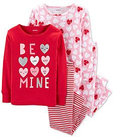 Carter's Baby Girls 4-Pc. Heart Cotton Pajamas Set