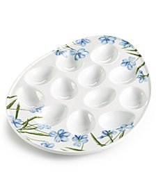 Martha Stewart Collection Floral Egg Platter, Created for Macy's
