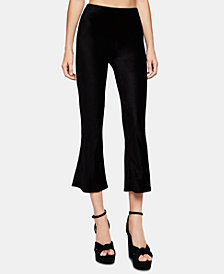 BCBGeneration Pinstriped Velvet Cropped Pants