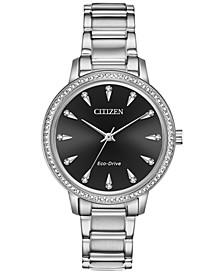 Eco-Drive Women's Silhouette Stainless Steel Bracelet Watch 36mm