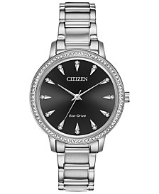 Citizen Eco-Drive Women's Silhouette Stainless Steel Bracelet Watch 36mm
