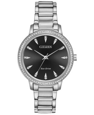 Citizen ECO-DRIVE WOMEN'S SILHOUETTE STAINLESS STEEL BRACELET WATCH 36MM
