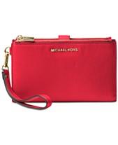 03a9c528c4c18 MICHAEL Michael Kors Adele Double-Zip Pebble Leather Phone Wristlet