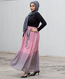Verona Collection Ombré Chiffon Maxi Skirt