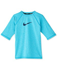 Nike Big Boys Swoosh-Print Rash Guard