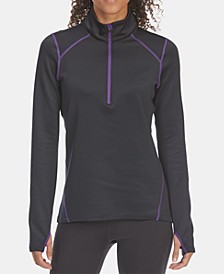 EMS® Women's Techwick® Performance Stretch Quick-Dry Heavyweight 1/4-Zip Base Layer Top