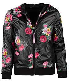 GUESS Big Girls Floral-Print Active Hoodie