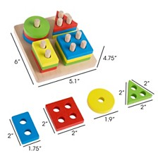 Wooden Shape Sorter By Hey Play