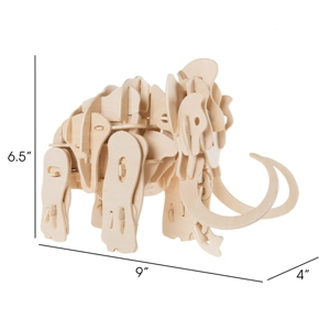 3D Wooden Woolly Mammoth Puzzle By Hey Play
