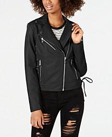 Asymmetrical Faux-Leather Moto Jacket