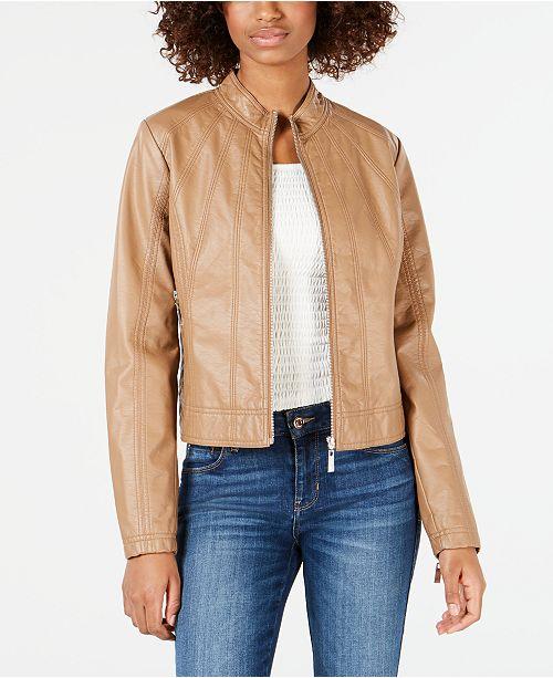 Jou Jou Juniors' Faux-Leather Jacket