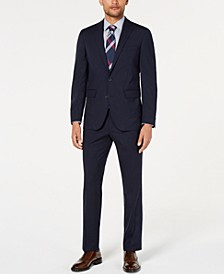 Men's Slim-Fit Stretch Grid Suit Separates