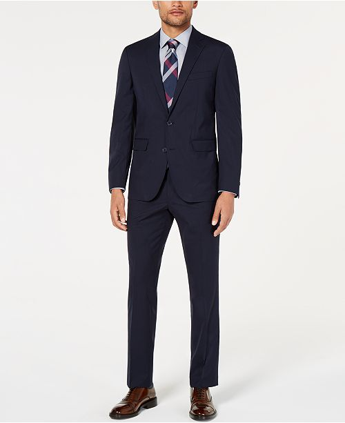 Cole Haan Men's Slim-Fit Stretch Grid Suit Separates