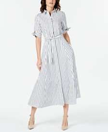 Calvin Klein Striped Shirtdress