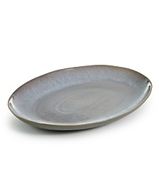 "Hotel Collection Olaria Moonstone 15"" Oval Platter, Created for Macy's"