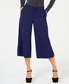MICHAEL Michael Kors Wide-Leg Cropped Pants, in Regular and Petite Sizes