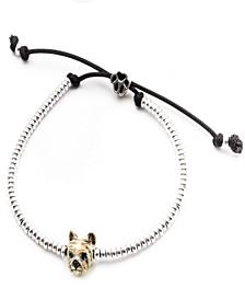 Yorkshire Terrier Head Bracelet in Sterling Silver and Enamel