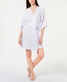 Linea Donatella Luna Bouquet Lace Trim Wrap Robe LUB030