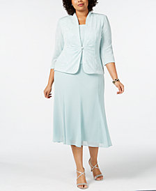 Alex Evenings Plus Size Embellished Dress & Jacket