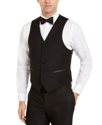 Men's Classic-Fit Black Tuxedo Vest