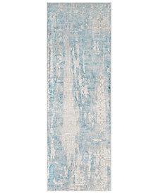 """Surya Aisha AIS-2301 Sky Blue 2'7"""" x 7'7"""" Runner Area Rug"""
