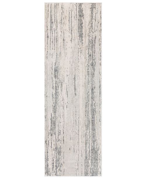 "Surya Aisha AIS-2304 Medium Gray 2'7"" x 7'7"" Runner Area Rug"