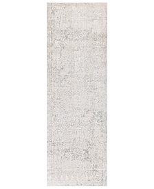 """Surya Aisha AIS-2307 Light Gray 2'7"""" x 7'7"""" Runner Area Rug"""