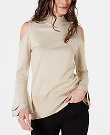 Thalia Sodi Cold-Shoulder Sweater, Created for Macy's