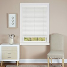 "Cordless Madera Falsa 2"" Faux Wood Plantation Blind Collection"