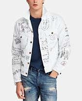 4888521572a9 Polo Ralph Lauren Men s Graphic Cotton Denim Trucker Jacket