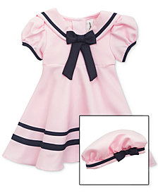 Rare Editions Baby Girls Sailor Dress & Hat Set