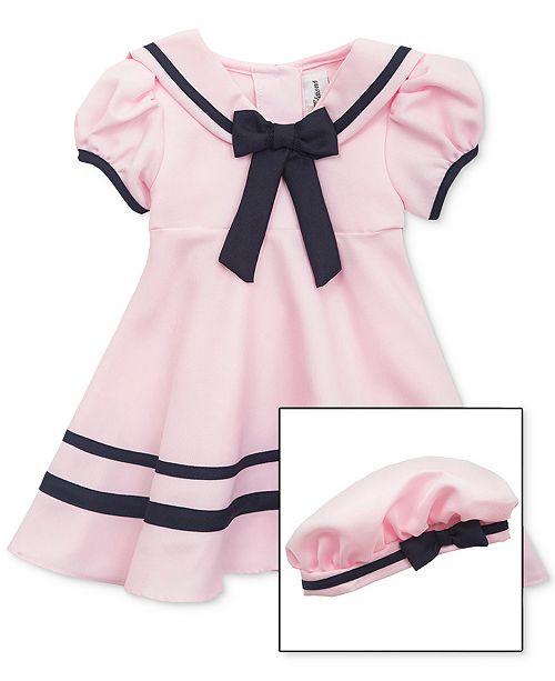 Rare Editions Baby Girls Sailor Dress   Hat Set - Dresses - Kids ... 0ea6342506d