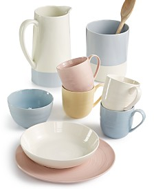 Martha Stewart Collection Color Striping Dinnerware, Created for Macy's