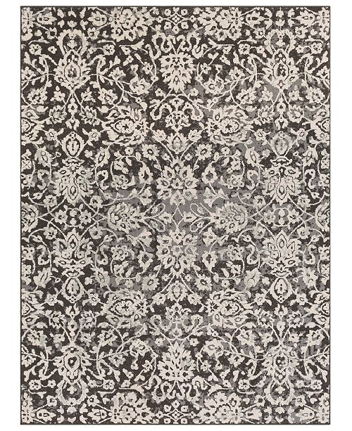 "Surya Bahar BHR-2300 Medium Gray 7'10"" x 10'3"" Area Rug"
