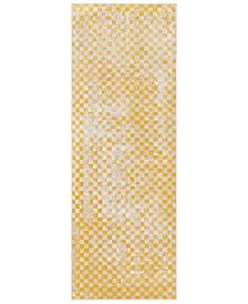 """City CIT-2338 Mustard 2'7"""" x 7'3"""" Runner Area Rug"""